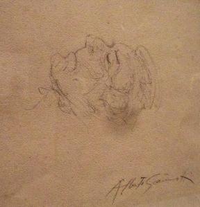 A. Giacometti - Braque sur son lit de mort - Dessin, mine de plomb - crédit photo: Samuel A.